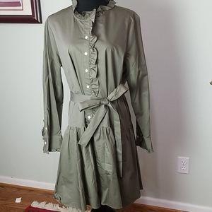Kate Spade Broome Street ruffle trench dress